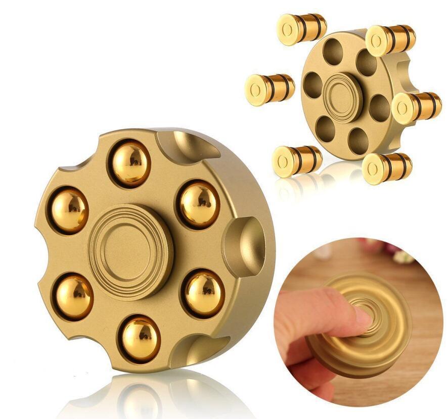2020 Fidget Hand Spinner Removable Revolver Bullet Brass  Fingertip Gyro Finger Spinner Focus Anti Reduce Stress Toy Gifts