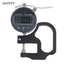 0-12,7 мм Электронный микрометр цифровой толщиномер 0,01 мм измеритель глубины для бумажной пленки кожи Толщиномер измерительный инструмент