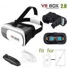 ราคาถูกVRกล่อง2.0 Version3 Dหัวหน้าเมาหมวกกันน็อคกระดาษแข็งVRเสมือนแว่นตา3Dวิดีโอสำหรับมาร์ทโฟน+บลูทูธควบคุม