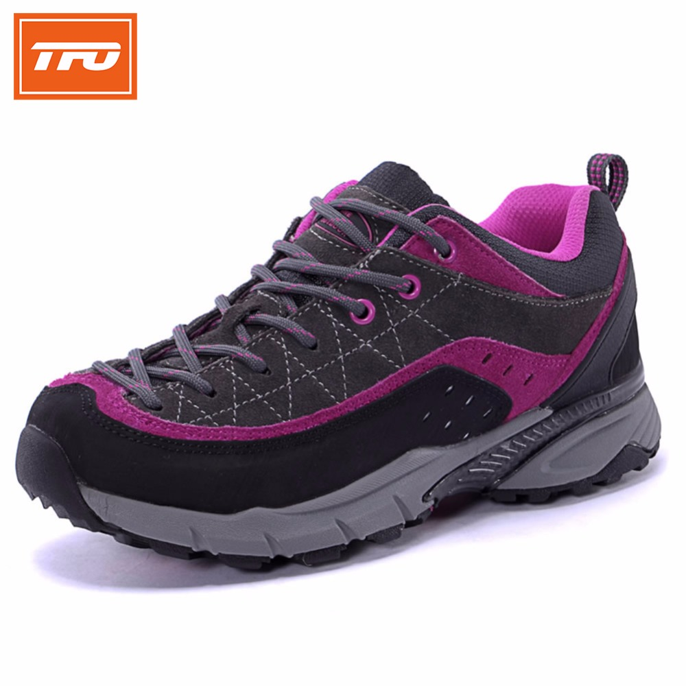 TFO Women running shoes sneakers outdoor sport jogging shoes walking athletic leather breathable lightweight female running
