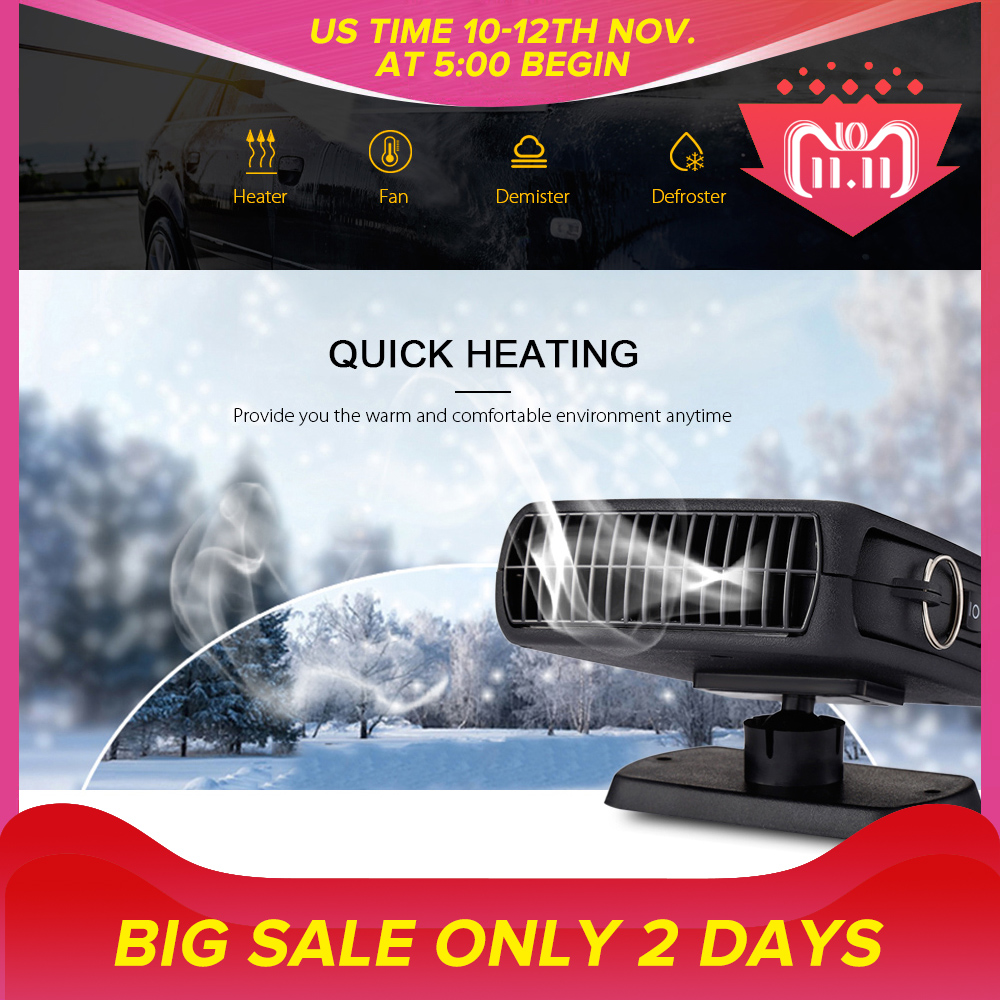 Zeepin 12V 150W Car Styling Car Heater Heating Fan 3 In 1 Windshield Demister Defroster Dryer For Vehicle 360 Degree Portable portable 150w ptc car vehicle heating heater hot fan defroster demister dc 12v