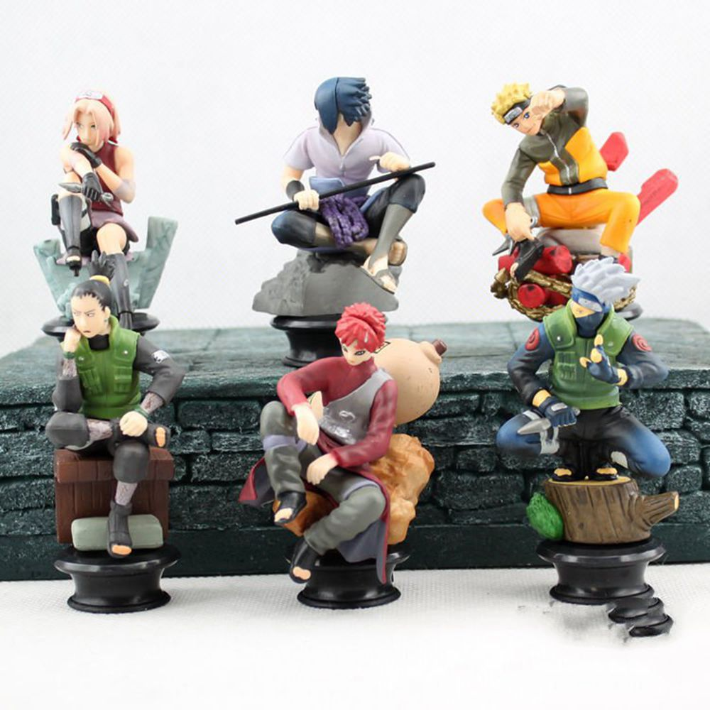 6 Pcs/set Naruto Action Figure Anime Pvc 9cm Cool Uzumaki Hinata Madara Kakashi Figure Classic Toys For Kids Or Collection 2pcs set naruto anime uzumaki naruto hyuga hinata pvc action figure model collection 16cm approx toy