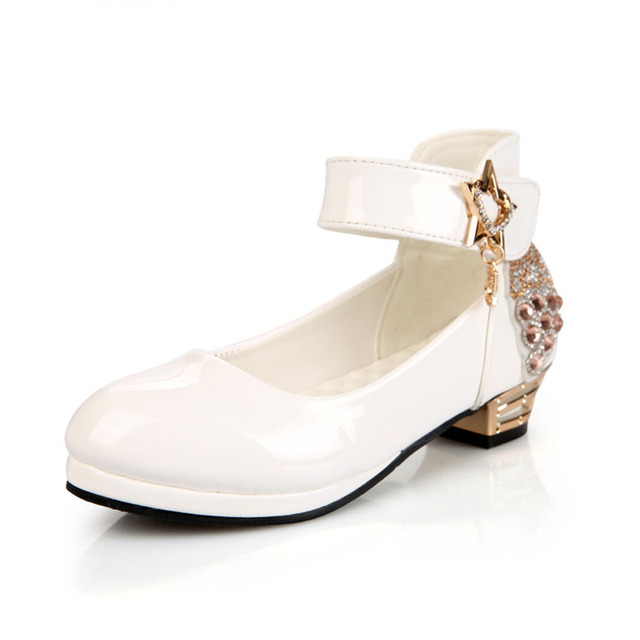 High Heeled Girls Shoes For Party 2017 European Style Flower Girl Wedding  Shoes Crystal