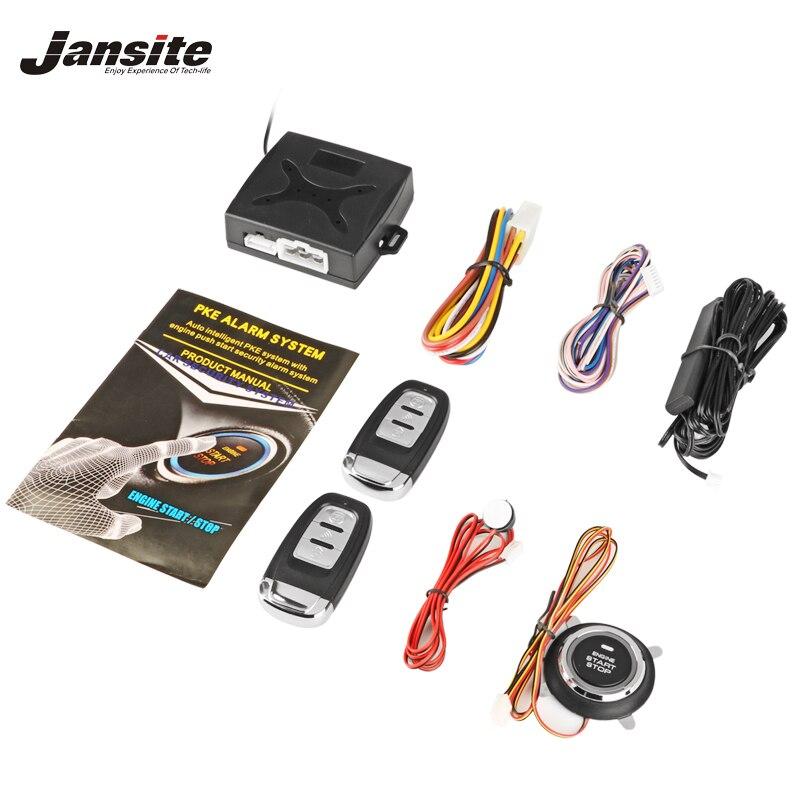 Jansit Автоматическая сигнализация двигателя Кнопка Старт стоп Замок зажигания без ключа система входа стартер противоугонная система безоп...