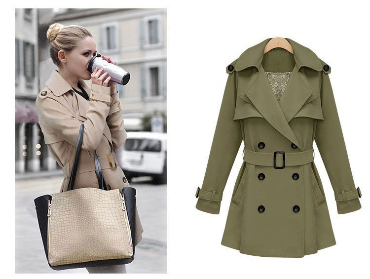 Popular Womens Military Trench Coat-Buy Cheap Womens Military ...