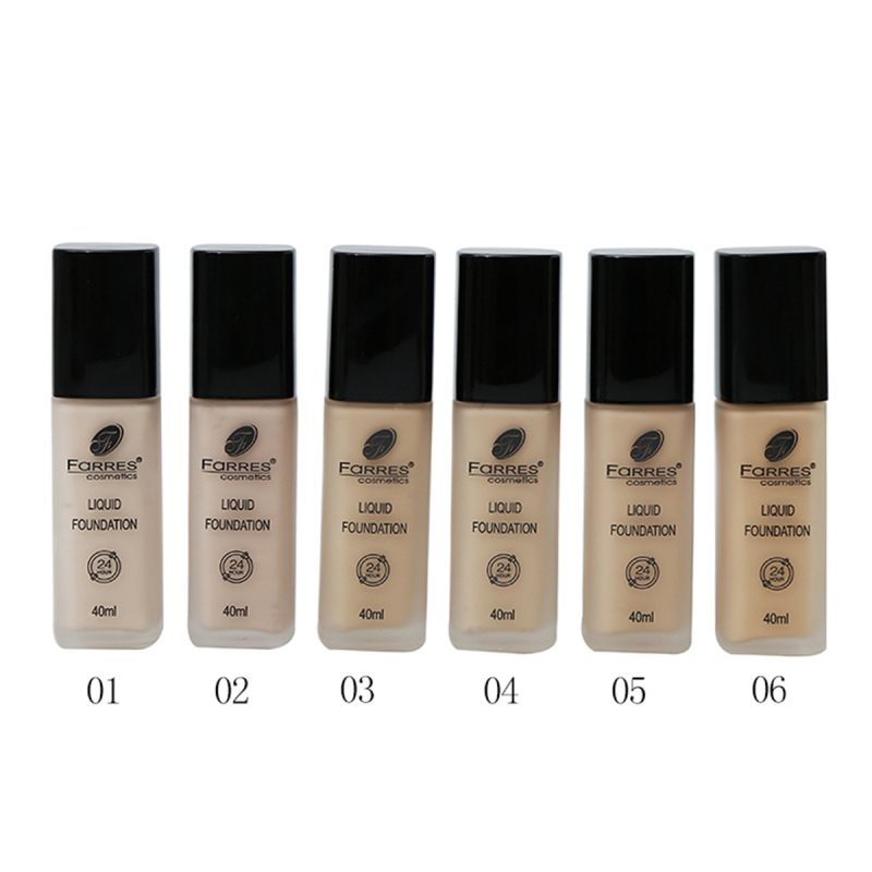 40ml Liquid Foundation Cosmetics Facial Invisible Full Coverage Concealer Make Up Moisturize Waterproof Lasting Base Makeup Hot image