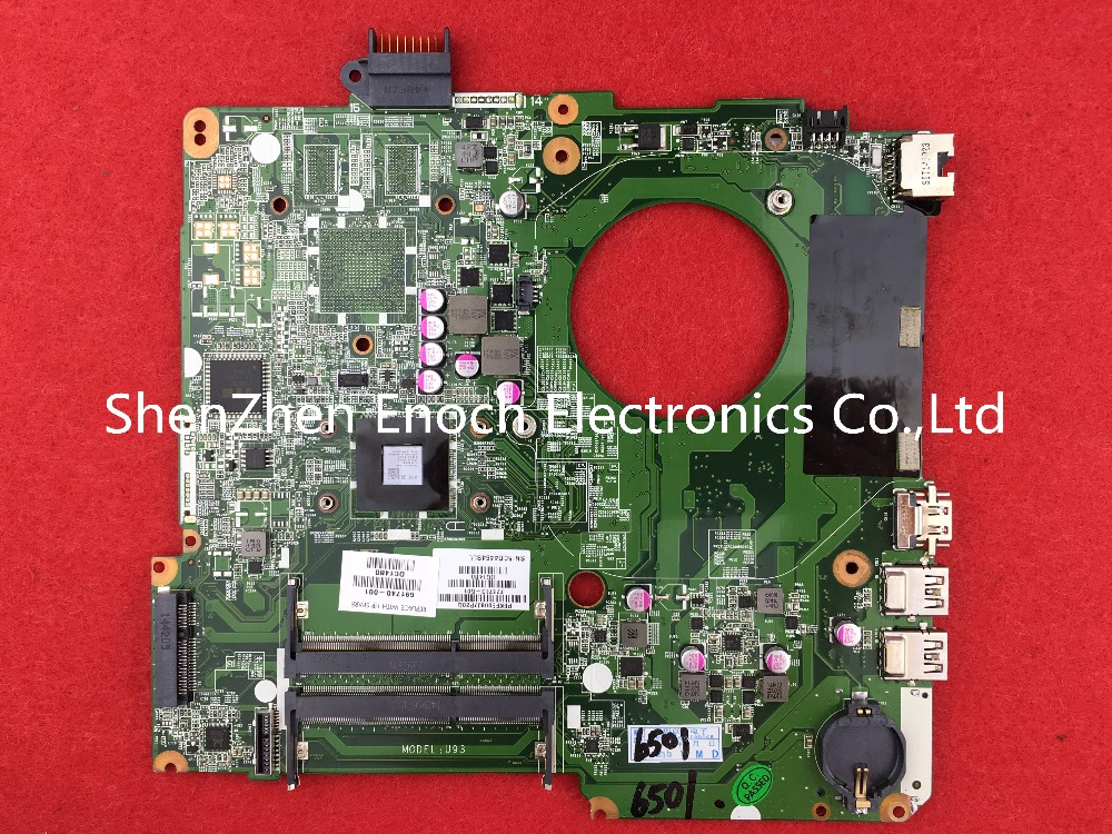 776783-501 for HP 15-F laptop motherboard integrated DA0U93MB6D2 E1-2100 CPU stock No.248 integrated laptop motherboard for 5738 08245 1 jv50 mv mb 48 4cg01 011