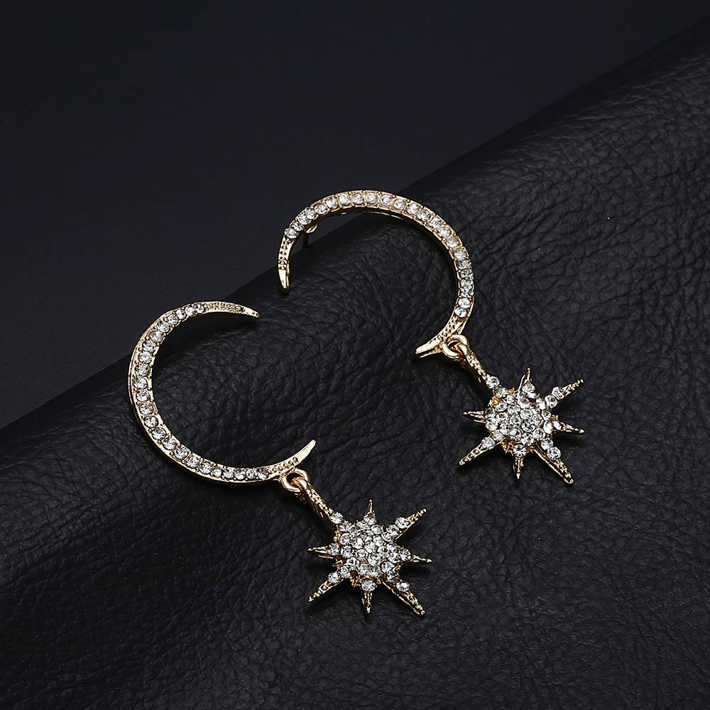 Detail Feedback Questions about Terreau Kathy Big Luxury Sun Moon Stars  Drop Earrings Rhinestone Punk Boho Vintage Statement Earrings for Women  Jewelry on ... 271398a828a7
