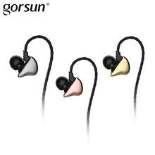In-Ear Wired Earphone with Microphone Headset Stereo Earphones Earbuds Volume Control for Android Xiaomi Gaming Gorsun C15 replaced audio earphone cable with volume control function for astro a10 a40 g233 gaming headset
