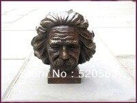 West pure Bronze Marble Art German physician Einstein bust statue