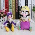 2016 горячей продаж 2 шт./компл. 30 см супер марио плюшевые игрушки куклы мягкие чучела животных варио Waluigi плюшевые игрушки куклы