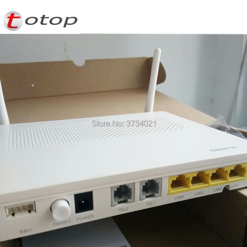 Free Shipping HUAWEI Echolife Gpon ONT Wireless Termina Gpon Terminal HG8245H,4 GE LAN And 2 Voice Ports With BBU And USB Port