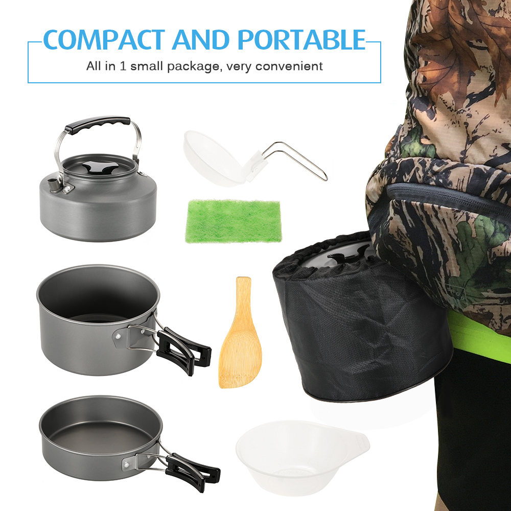 1600ml Compact Lightweight Coffee Tea Kettle Pot Camping Trekking Fishing