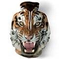 Men hoodies hip hop sweatshirt funny 3D Tiger fashion brand plus size 3XL hoodie men tracksuit unisex pullovers