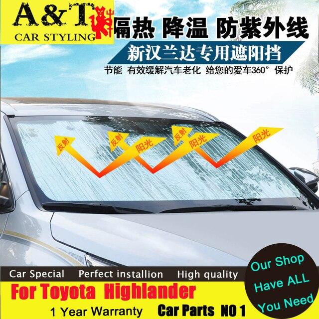 car styling For Toyota Highlander Sunscreen car sun shade sun visor 2015 2016 Highlander modified special Sun block pad curtain