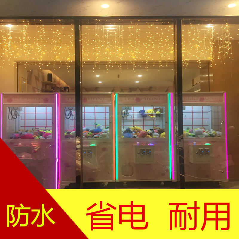 LED Curtain Icicle Fairy String Lights 20M X0.5M 850leds ice bar Lamps Christmas 220V New year Garden Xmas Wedding Party Decor 3 meters glow in the dark luminous vinyl heat trasnfer film vinyl the light green color in daytime
