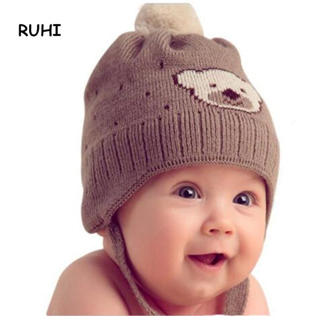 Baby Boy Cute Bear Hat For Winter Autumn Cotton Warm Hats For Kids High  Quality Crochet Caps Boys Girls Bonnet BMZ70 ff51a6819e5