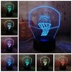 3D Баскетбольное Кольцо Спорт Украшения Дома LED иллюзия USB Touch 7 Изменение Цвета Лампы Спальня N ★