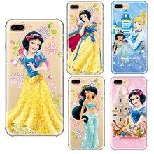 Фотография Ariel Aurora Belle Cinderella Jasmine Princess Snow White Girl Soft Silicone Case Phone Case For iPhone 5 5s SE 6 6s 7 8 Plus X