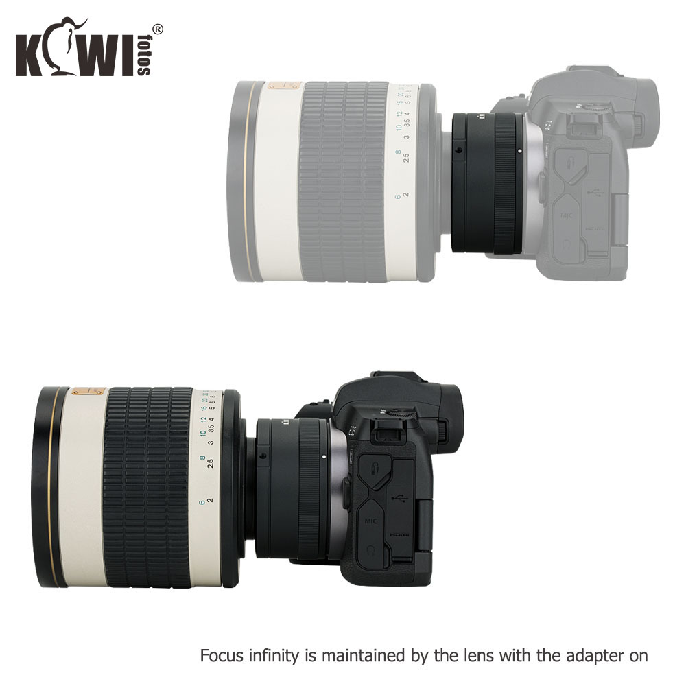 KIWIFOTOS LMA-TM_CRF Manual Lens  Adapter Ring  69×40.5mm For T Mount Lenses to Canon RF Mount Body