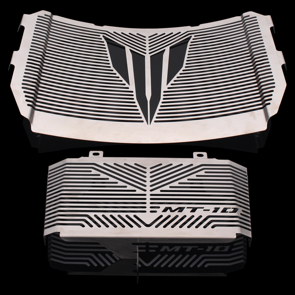 Silver Color Motorcycle Accessories Radiator Guard Protector Grille Grill Cover For YAMAHA MT10 MT-10 MT 10 2016-2017 hot sale motorcycle accessories radiator guard protector grille grill cover stainless steel for yamaha mt07 black color