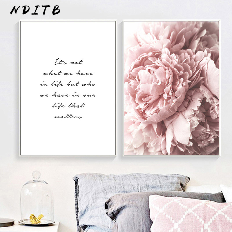 Scandinavian Art Flower Canvas Poster Pink Peony Floral Print Painting Nordic Style Wall Picture Modern Living Scandinavian Art Flower Canvas Poster Pink Peony Floral Print Painting Nordic Style Wall Picture Modern Living Room Decoration