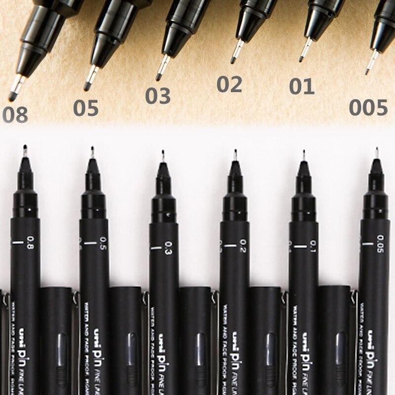 1pcs Technical Multi Pen Micron Drawing Pen Multi-type 005 01 02 03 05 08 Tip Penspinning Writing For School