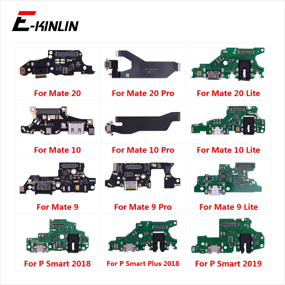 Charging Port Connector Board Parts Flex Cable With Microphone Mic For HuaWei Mate 20 10 9 Pro Lite P Smart Plus 2019(China)