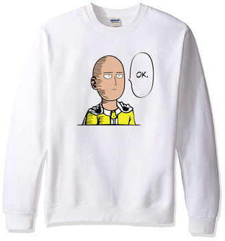 2018 sweatshirt men hoodies spring winter One Punch Man Hero Saitama Oppai anime cartoon men's sportswear harajuku hoody hip hop