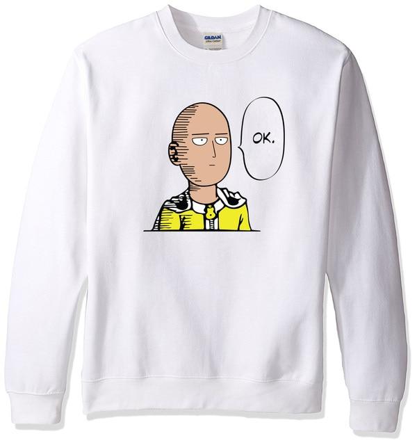 2018 sweatshirt men hoodies spring winter One Punch Man Hero Saitama Oppai anime cartoon men's sportswear harajuku hoody hip hop