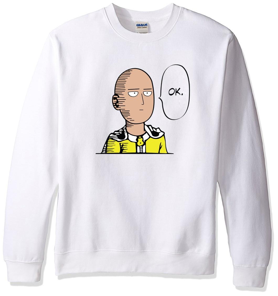 2019 Sweatshirt Men Hoodies Spring Winter One Punch Man Hero Saitama Oppai Anime Cartoon Men's Sportswear Harajuku Hoody Hip Hop