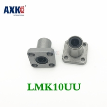 2 Pcs Free Shipping Lmk10uu 10mm Flange Bearing Cnc Flange Linear Bearings Flange Linear Bush Lmk10 hot sale 1pc lm10uu linear bushing 10mm cnc linear bearings
