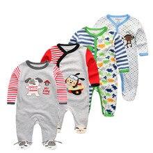 4 шт./партия; детская пижама с длинными рукавами и рисунком из мультфильма; хлопок; детская пижама с героями мультфильмов; одежда для сна для новорожденных; комплекты одежды для малышей
