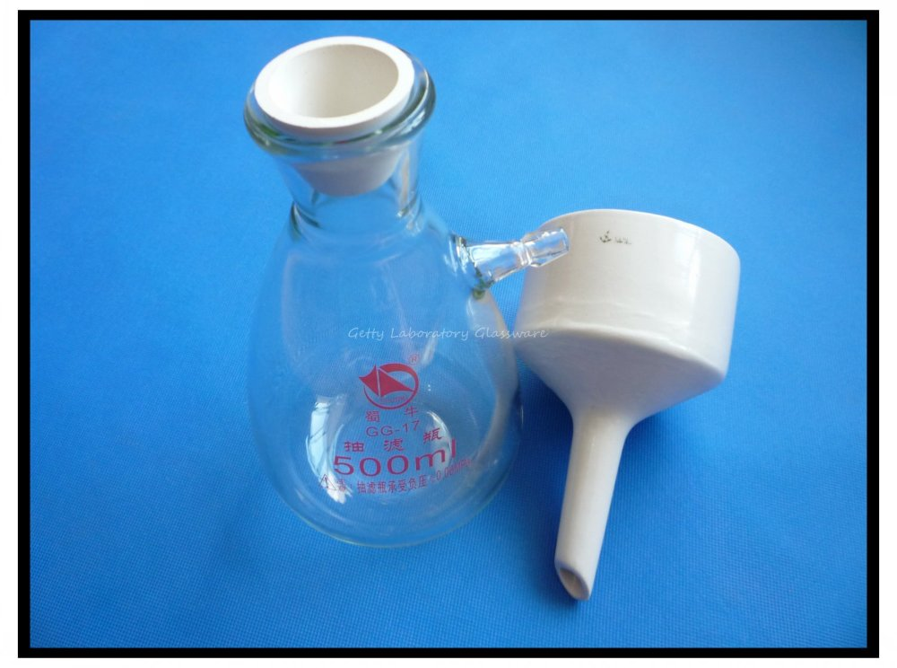 500ml Buchner Funnel Apparatus, Filting Funnel Kit used for Vacuum Suction Filteration цена