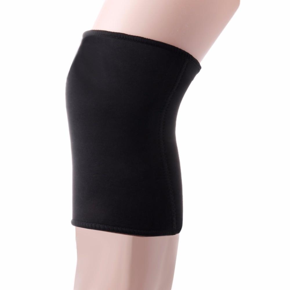 Sports Leg Knee Patella Support Brace Wrap Protector Pad Sleeve Elastic Black