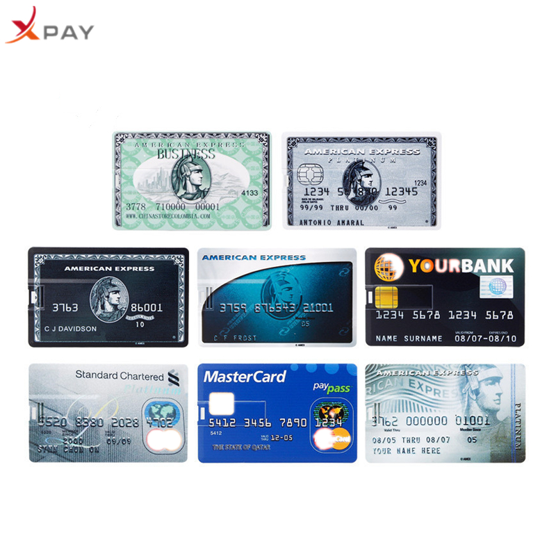 XPAY MasterCard Usb flash drive 32GB 2.0 Super thin Credit Card pen drive 4GB 8GB 16GB 64GB for gift 128GB flash disk Free Logo-in USB Flash Drives from Computer & Office