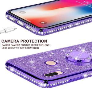 Image 4 - Glitter elmas durumda XiaoMi Mi A2 lite RedMi not 7 8 Pro 7s 6 6A 6 PRO 5 artı not 5 Pro K20 manyetik parmak 360 halka kapak