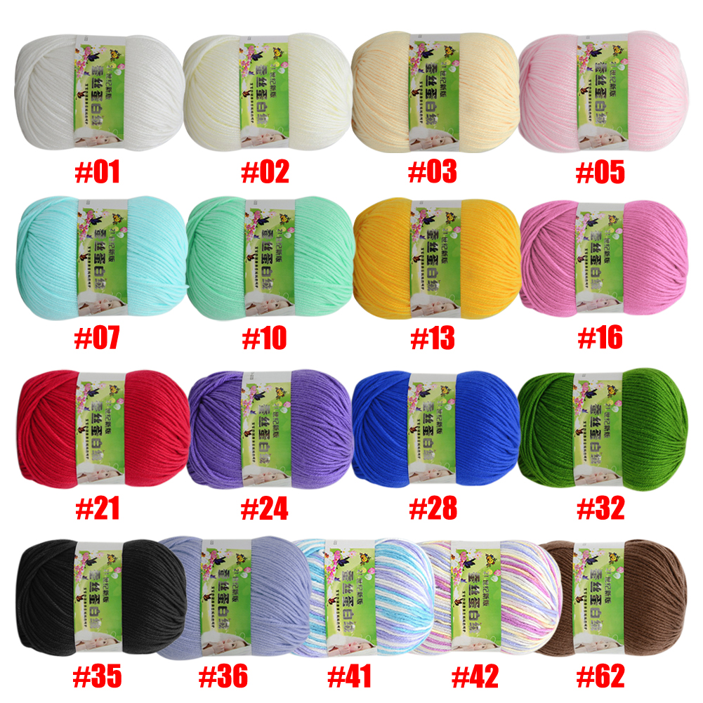 WITUSE 11.11 Promotion Sale 1PC 17 Colors Soft Baby Silk Cashmere Cotton Yarn Crochet Sale Yarn For Hand Knitting Sweater Thread