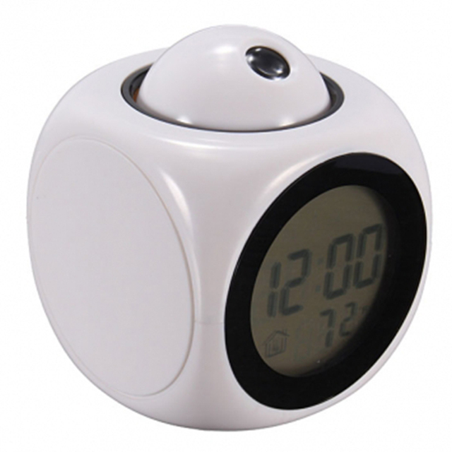 2016 Multifunction LCD Talking Projection Alarm Clock Time & Temp Display