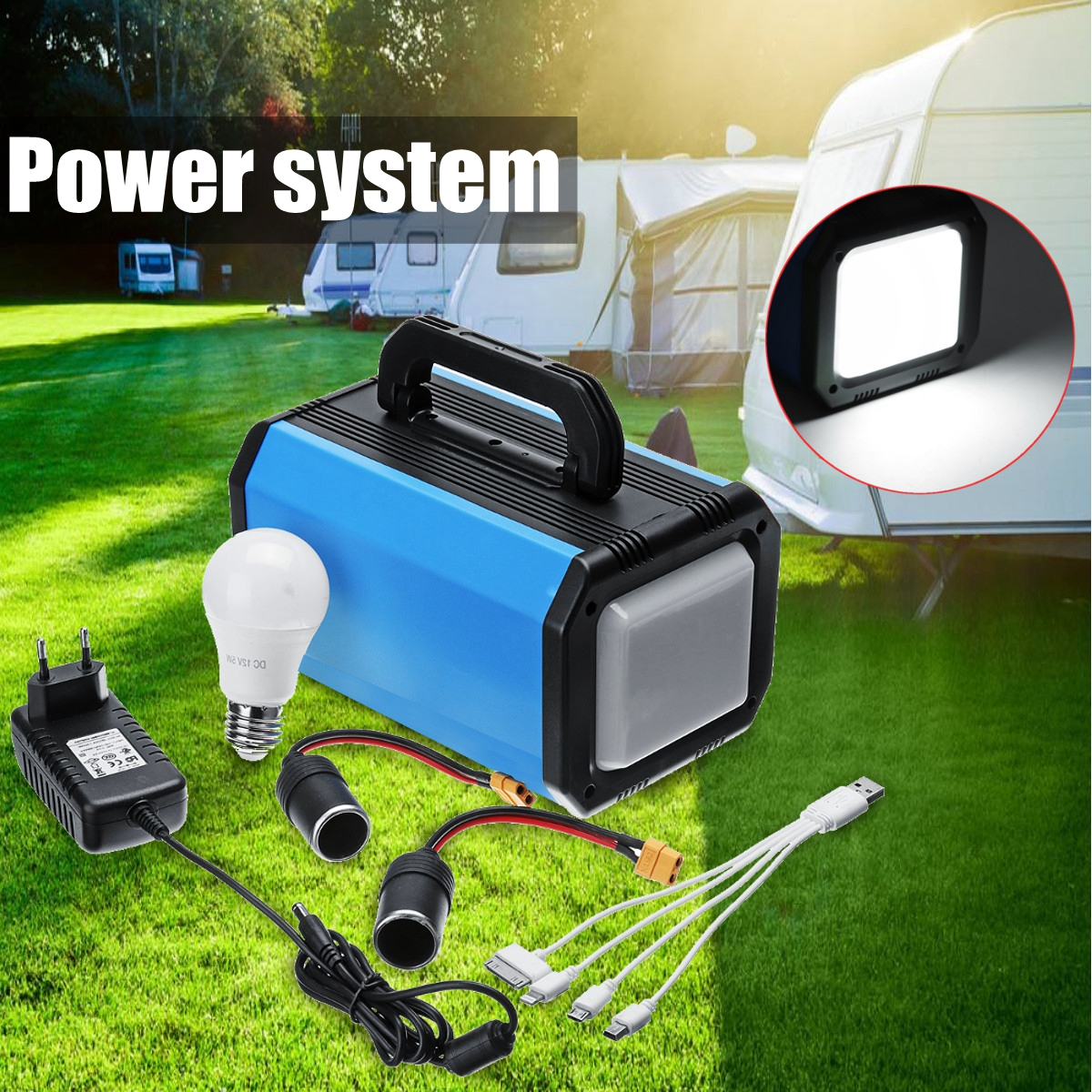 Easun Power Portable Solar Generator Mini 30w Panel 12v Pwm Charge Controllersolar 220v Portablesolar 144w System Inverter Supply Energy Storage Source Outdoor
