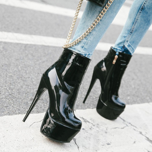 Image 5 - WETKISS เซ็กซี่รองเท้าส้นสูงข้อเท้ารองเท้าแพลตฟอร์มรองเท้าฤดูหนาว 2020 ใหม่สไตล์ซิปด้านข้างผู้หญิงรองเท้าหญิง stiletto รองเท้า