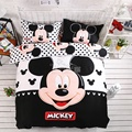 Home textiles 100% cotton adult kids Boys mickey mouse 3d bedding set Twin full Queen King size comforter Cover set/bedroom sets