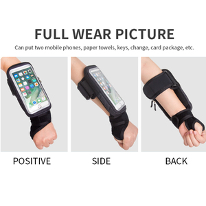 Image 5 - Sport Fiets Pols Zak Armbanden Case Voor Iphone Se 2 11 Pro Max Xs Xr X 7 8 Plus Samsung a51 S20 Huawei Fiets Telefoon Houder Pouch