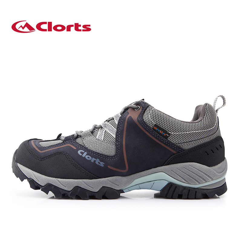 2016 Clorts Men Hiking  Real Leahter Outdoor Shoes Waterproof Nubuck Trekking Shoes Mountain Climbing for men clorts men hiking shoes boa lace up outdoor shoes waterproof trekking shoes for men free soldier summer climbing shoes 3d027a