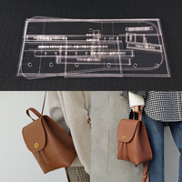 Acrylic Stencil Laser Cut Template DIY Leather Handmade Craft Shoulder bag Sewing Pattern 170x210x100mm