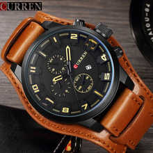 Men\'s Watches Fashion Luxury Brand CURREN Military Quartz Sports Mens Watch Casual Leather Wristwatches Male Clock Montre Homme - DISCOUNT ITEM  47% OFF Watches