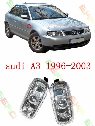 Для Audi А3 1996/97/98/99/2000/01/02/03 стайлинга автомобилей боковые поворотники контрольная лампа напомнить Лампа 1 комплект электронной аппаратуры 8e0 949 127