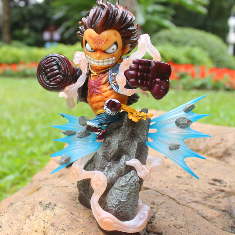 20cm Japanese Anime One Piece Gear Fourth Luffy PVC Action Figure Model Doll Toys Kids Gifts [yamala] 2pcs set 18cm anime one piece luffy ace pvc action figure model toys christmas toy model gifts for children