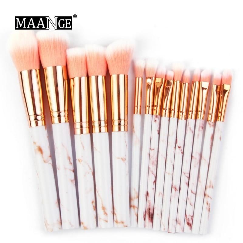 15 unids/set Pro brochas de maquillaje multifunción brochas de maquillaje corrector sombra de ojos base brocha herramienta maquillaje
