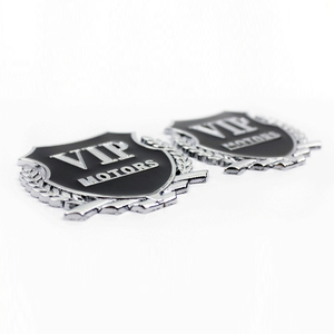 Image 2 - Car Styling VIP Car Metal Stickers For BMW Audi Opel KIA Hyundai Peugeot Ford Nissan Mazda Chevrolet Benz Accessories